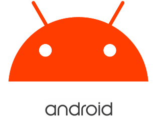 orange android head
